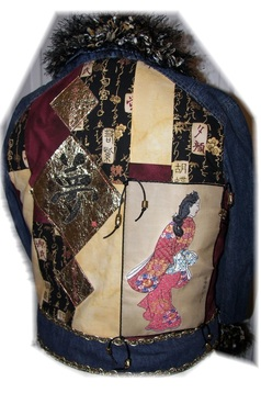 PRINT AND STITCH EMBELLISHED JEAN JACKET - FEATURED IN DESIGNS IN